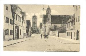 Rothenburg o.d. Tauber, Germany, PU-1908   Spitalstrasse