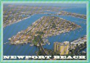 California Newport Beach Aerial View Lido Isla Balboa Island 1997
