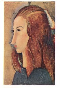 Modigliani Madame Mme Yale University Painting Postcard