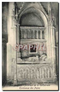 Old Postcard Avignon Interior of the Cathedral Tombs of the Popes