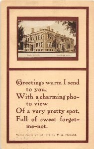 F97/ Hastings Nebraska RPPC Postcard c1910 High School 17