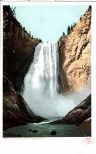 YELLOWSTONE, DETROIT PUBLISHING, LOWER FALLS (WITHOUT RAINBOW), DIVIDED BACK
