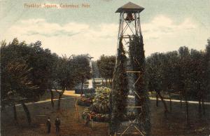 Columbus Nebraska~Frankfort Square~Ivy Cover Bell Tower~Remember Concerts?~1910