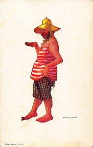 Comic Homeless Man Hobo Series No 1 Postcard