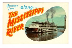 Greetings From Mississippi River, Cruise Boat