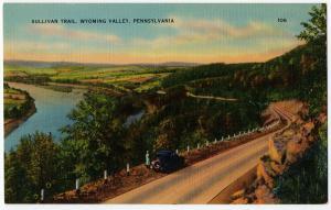 1930-1945 Sullivan Trail Wyoming Valley PA Pennsylvania Antique Linen Postcard