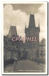 Old Postcard Praha Malostranske Mostecké veze