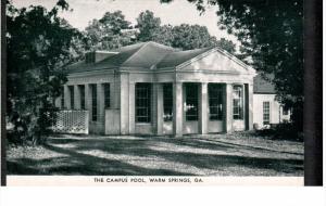 WARM SPRINGS, Georgia, 1940-1960's; The Campus Pool