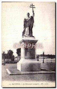 Old Postcard Bayonne Lavigerie Monument