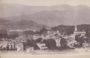 Aveze Aerial Birds Eye Languedoc Roussillon French France Vintage Postcard