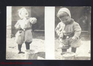 RPPC WILCOX NEBRASKA CUTE BABY GIRL DARLINGTON NEBR. 1908 REAL PHOTO POSTCARD