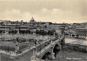 Italy Roma Bridge Vintage Cars General view Voitures Pont Panorama