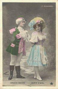 Art Nouveau Couple Costumes Gracie Moore Marie O'Niel Vintage RPPC 06.90
