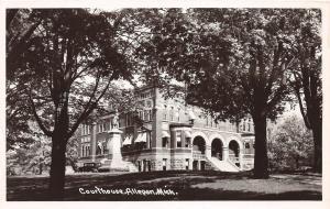 C22/ Allegan Michigan Mi RPPC Postcard c40s County Court House Building