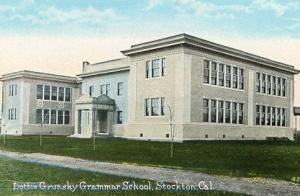 CA - Stockton, Lottie Grunsky Grammar School (Demolished in 1977)