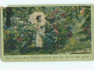 Divided-Back PRETTY WOMAN Risque Interest Postcard AA8016
