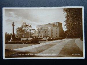 Warwickshire STRATFORD ON AVON Shakespeare Memorial Theatre c1933 RP Postcard