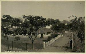 indonesia, JAVA MALANG, Christelijke School (1920s) RPPC Postcard