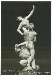Italy, Italia, Firenze, Piazza della Signoria, Ratto delle Sabine, unused RPPC