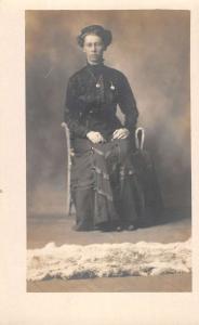 Martinsburg West Virginia ? Historic  Lady Real Photo Antique Postcard K56101