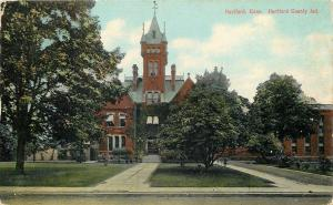 Hartford Connecticut~Spit Paths to the County Jail~Big Tower c1910 Postcard