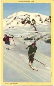 Ski action, Rainier National Park, Washington , 30-40s