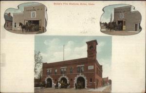 Boise ID Fire Station Multi-View c1910 Postcard