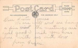 Alexandria Indiana Greetings Girl Pennant Flag Vintage Postcard J926594