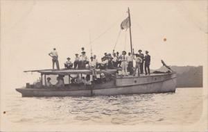 Panama Workers Traveling By Boat Photo