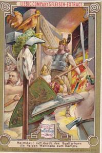 Liebei S0412 Scandinavian Mythology F Heimdallr ruft durch das Gyallarhorn di...