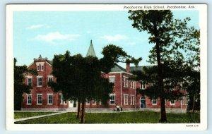 POCAHONTAS, AR Arkansas ~ HIGH SCHOOL  c1940s  Randolph County Linen  Postcard