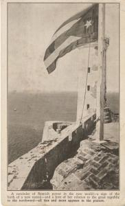 Cuba Flag Lighthouse Morro ~ 'A Reminder Of Spanish Power...' c1925 Postcard