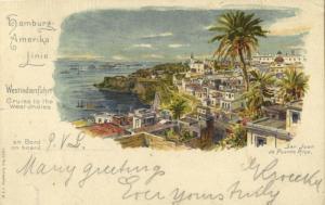 Puerto Rico, SAN JUAN, Partial View (1900s) H.A.L. Litho Postcard