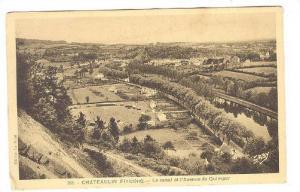 CHATEAULIN, Le canal et l'Avenue de Qumper, Finistere, France, 10-20s