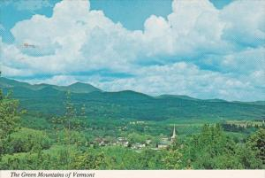 Vermont Green Mountains With Stowe Village In Foreground