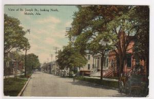 St Joseph Street Scene Mobile Alabama 1910c postcard