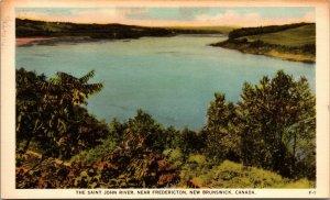 Lot of 4 : Toronto New Brunswick Johns River CANADA UNPOSTED POSTCARDS