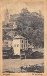 Vianden Luxembourg City View From Water Bridge Historic Antique Postcard K13129
