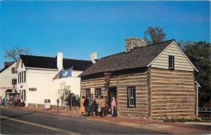 Leesburg Virginia~Museum and Log Cabin 1975