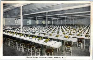 AUBURN, NY New York    DINING ROOM  Auburn  PRISON   1920    Postcard
