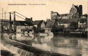 CPA BEAUMONT-sur-SARTHE - Pont suspendu et Chateau (390919)