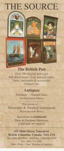 VANCOUVER , B.C. , Canada , 50-60s ; The British Pub Antique Store