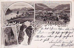 Gruss Aus MARIAZELL (Styria), Austria, PU-1899 ; 4-Views, Panorama,