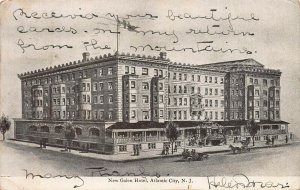 New Galen Hotel, Atlantic City, New Jersey, Early Postcard, Used in 1907
