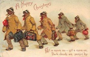LP43  Frances Brundage Christmas Postcard  Tuck Publisher Black Ethnic