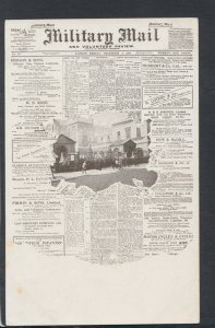History Postcard - Newspapers - Military Mail and Volunteer Review   RS20220