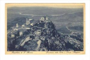 San Marino , 00-10s Panorama della Citta e Borgo Maggiore