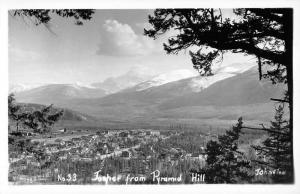 Jasper Alberta Canada View From Pyramid Hill Real Photo Antique Postcard K12663