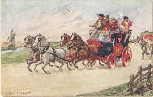 A.Ludovici. Goingthe pace.  Horses Tuck Oilette Coachin Scenes Ser.     PC #