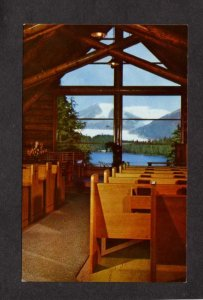 AK Chapel Church Lake Auke Bay Juneau Alaska Postcard Mendenhall Glacier